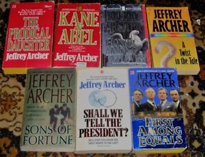 Lot of Jeffrey archer books $5