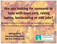 Raking, Cleaning, Help with Odd Jobs or Moving