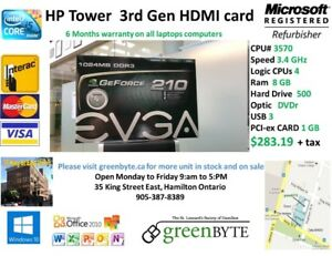 i5 3Gen HP Tower 3.4 GHz 8 GB RAM  HDMI video card
