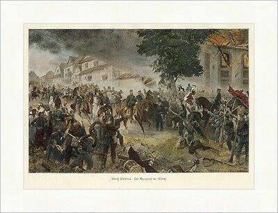 Georg Bleibtreu. Der Kronprinz bei Wörth Schlachten coloriert Holzstich E 9008