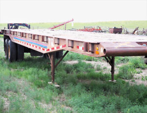 40 FOOT TANDEM HIGHBOY FLAT BED DECK FLOAT TRAILER