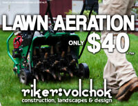 AERATION SPECIAL -- MOST LAWNS $40