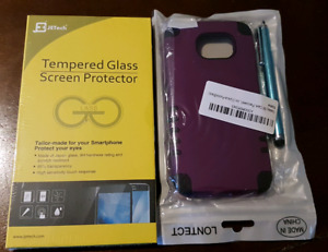 Samsung S6 Tempered Glass and Case