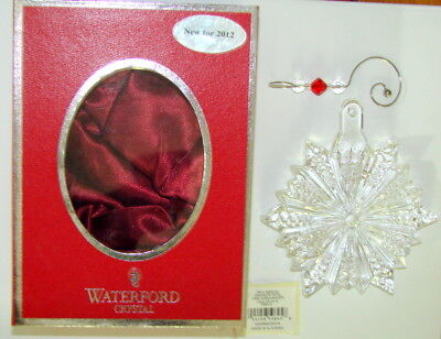WATERFORD SNOW CRYSTAL SNOWFLAKE ORNAMENT W/ ENHANCER MADE IN Slovenia 156410