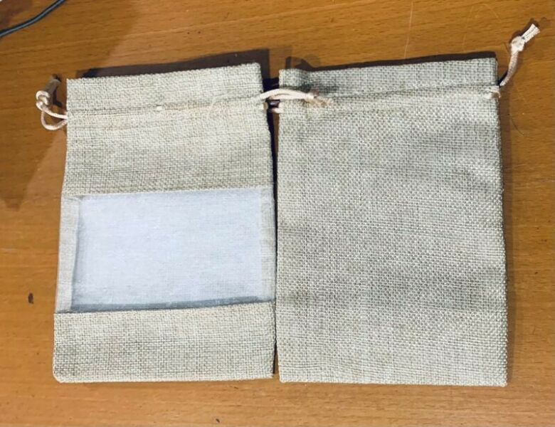 10pcs Linen or cotton Pouch Draw String Bag Textile Gift Carrier Luxury Gift Wrap