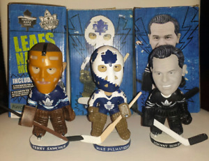 Maple Leafs goalie bobbleheads in box - only Bower & Sawchuck