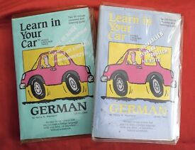 Learn German in the car - four cassette tapes