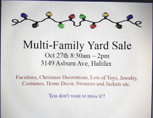 Large Multi-Family Yard Sale (Oct 27th)