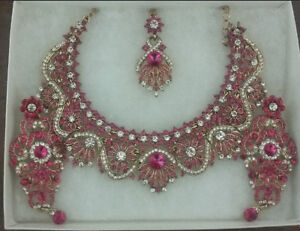 Indian/Pakistani Fancy Necklace Set - NEVER WORN- BEST PRICE