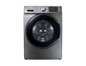 4.5 cu. ft. High Efficiency Front Load Washer with Steam in Platinum, ENERGY STAR (SAM1022)