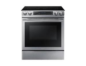 Samsung 30 5.9 Cu. Ft. True Convection 5-Element Slide-In Smooth Top Electric Range-Stainless Steel (SAM973)