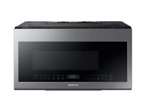 Silver Microwave |Samsung ME21M706BAS Over the Range with Glass Touch Bottom Control, 2.1 cu.ft (BD-803)