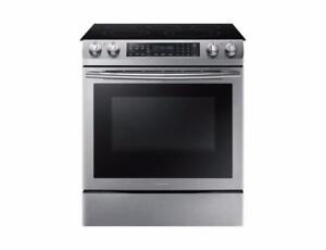 SAMSUNG NE58M9430SS SLIDE-IN ELECTRIC RANGE WITH 5 BURNERS ON SALE (AP 14)