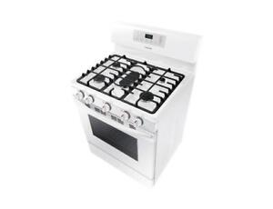 5-Burner Freestanding Gas Range in White|Samsung NX58M3310SW Gas Range with Large Capacity,5.8 cu.ft. (BD-793)