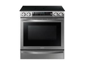 Samsung 30 5.8 Cu.Ft. Self-Clean 4-Element Slide-In Induction Range - Stainless Steel (SAM981)