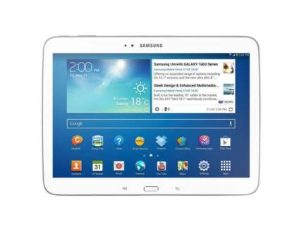 White Samsung Galaxy Tab 3 plus 8GB SD Card and white case