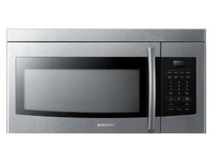 SAMSUNG / LG / SHARP OVER THE RANGE MICROWAVE.  1.6 cu.ft./ 1.8 cu. ( ALL COLOR)  BRAND NEW.  SUPER SALE  $149.99 NO TAX