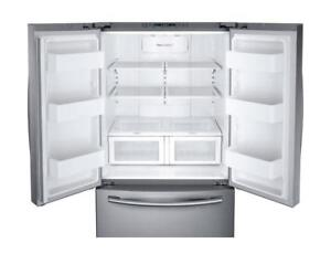 "french door Fridge | Samsung RF26HFENDSR 36"" French Door Refrigerator with Twin Cooling Plus System (BD-768)"