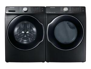 SAMSUNG 27 FRONT LOAD WASHER & DRYER SET. STAINLESS STEEL BRAND NEW. SUPER SALE $1199.00 NO TAX.