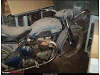 wanted old motorbike for restoring. any condition . dusty/rusty any cc, honda bsa rudge indian james