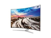 """Samsung 49"""" MU9000 Brand New 4K UHD HDR Top Model with amazing Connect Box and voice activated"""