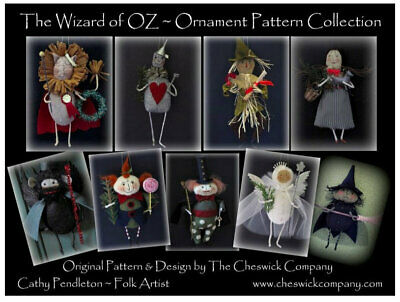 **EMAIL PDF VERSION** Heirloom Christmas Ornament PATTERNS - Wizard of Oz -All 9 ()