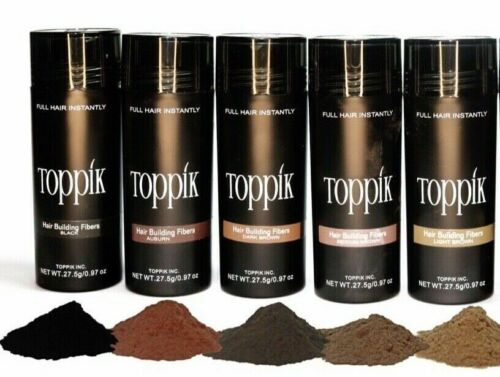 Dark Medium Light Brown Black 27.5g Toppik Gray Blonde Hair Building Fiber