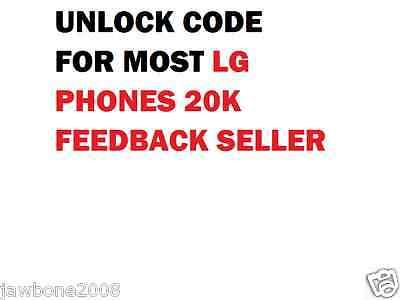 LG UNLOCK CODE FOR  MS323 G3 F5 L6 L9 F6 F3 L70 MS395 D415 E980 MS450 L90 G2