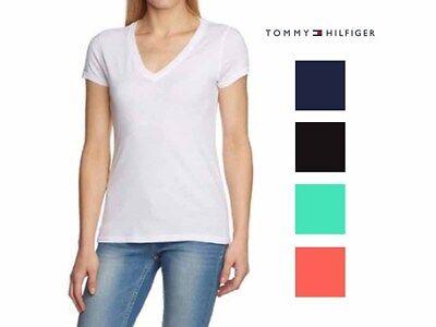 Tommy Hilfiger Womens  Short Sleeve V-neck  T-Shirt , 100% cotton.