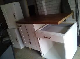 Fridge with cupboards