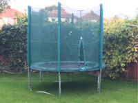 Trampoline with Protective Netting.
