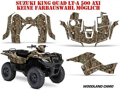 AMR RACING DEKOR KIT ATV SUZUKI KING QUAD LTA 450/500/700/750 WOODLAND CAMO B