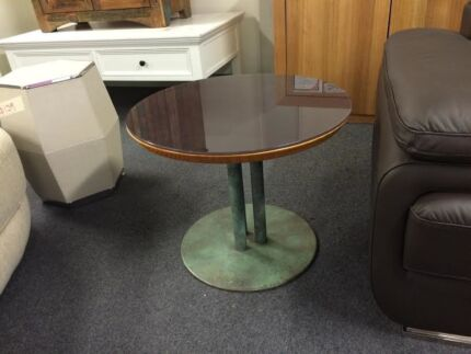 COFFEE TABLES HUGE CLEARANCE VERY NICE GLASS TOP&GREEN METAL BASE Ultimo Inner Sydney Preview