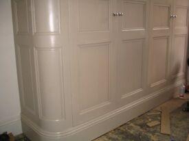 Bespoke shelving, built in bookcases, sliding wardrobe doors, room dividers, storage, custom kitchen