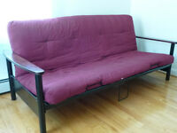 Futon - double (Metal frame, good condition).