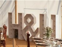 Giant White Initial Light Up Letters
