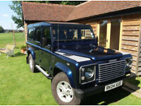 Blue Metallic Land Rover Defender 110 XS New Tyres