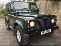 Metallic Green Land Rover Defender 90 Electric Windows