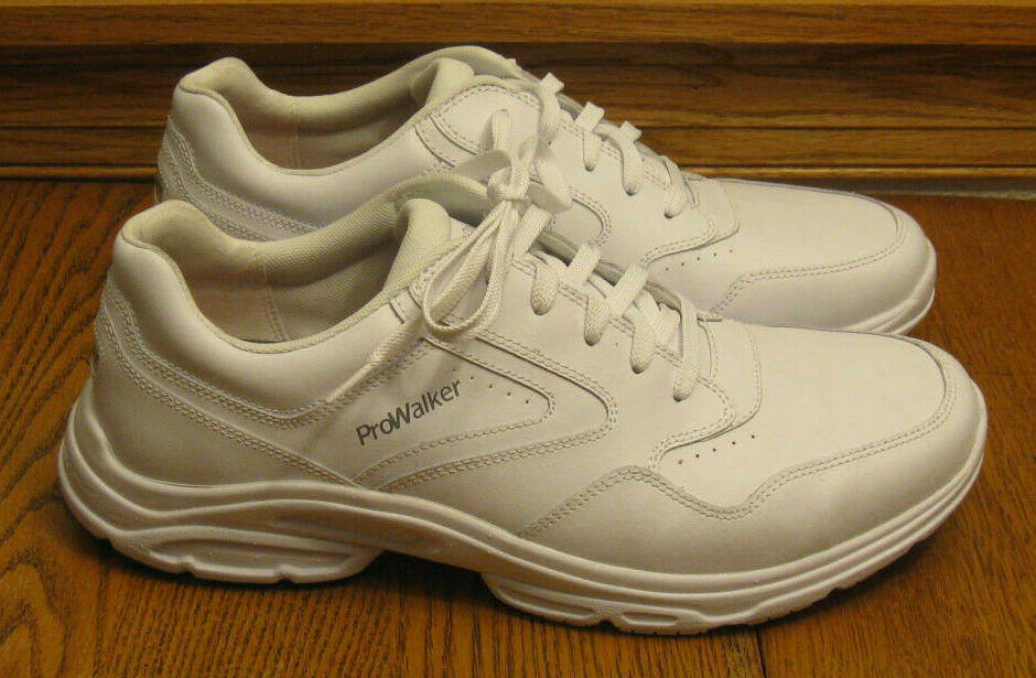 """New! ROCKPORT Prowalker """"Catalyst 3"""" white leather SNEAKERS"""