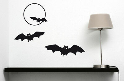 Set Fledermaus - Vollmond Halloween Vampir Schlafzimmer Wandaufkleber - Halloween Vollmond