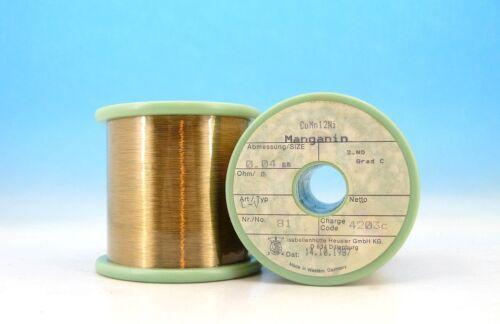 125g NET CuMn12Ni MANGANIN 46AWG 0.04mm 343 Ω/m 104 Ω/ft Resistance WIRE 0,04