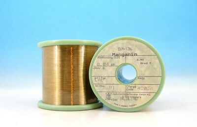 200ft 60m E Manganin Cumn12ni 46awg 0.04mm 362.4 M 110 Ft Resistance Wire