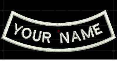CURVE CUSTOM EMBROIDERED NAME TAG Iron on patch Quality Badge (Inverse) for sale  Repentigny