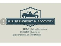 Vehicle transport & recovery service