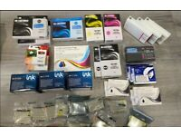 Huge job lot sealed ink cartridges compatible with Epsom and others