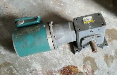 Reliance Electric Duty Master Motor 12 Hp Model P56x5025h Wgear Reducer