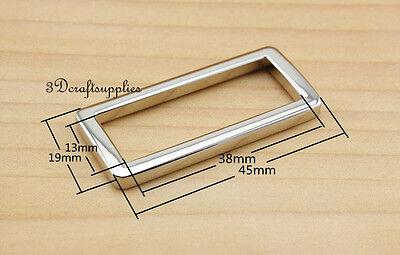 Rectangle Rings webbing Belt buckle alloy nickel 38 mm 1 1/2 inch 10pcs