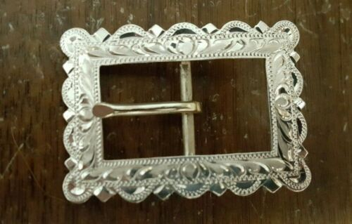 """Sterling Overlay Bar Buckle for 3/4"""" strap (#211-PB) Pico Bola"""
