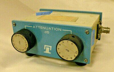 Telonic Berkeley 8143-a 50 Ohm Decade Rf Attenuator 0-100db 0-10 Db Bnc Jacks