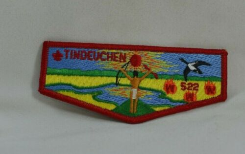 TINDEUCHEN LODGE 522 ORDER OF THE ARROW FLAP PATCH BOY SCOUTS OF AMERICA